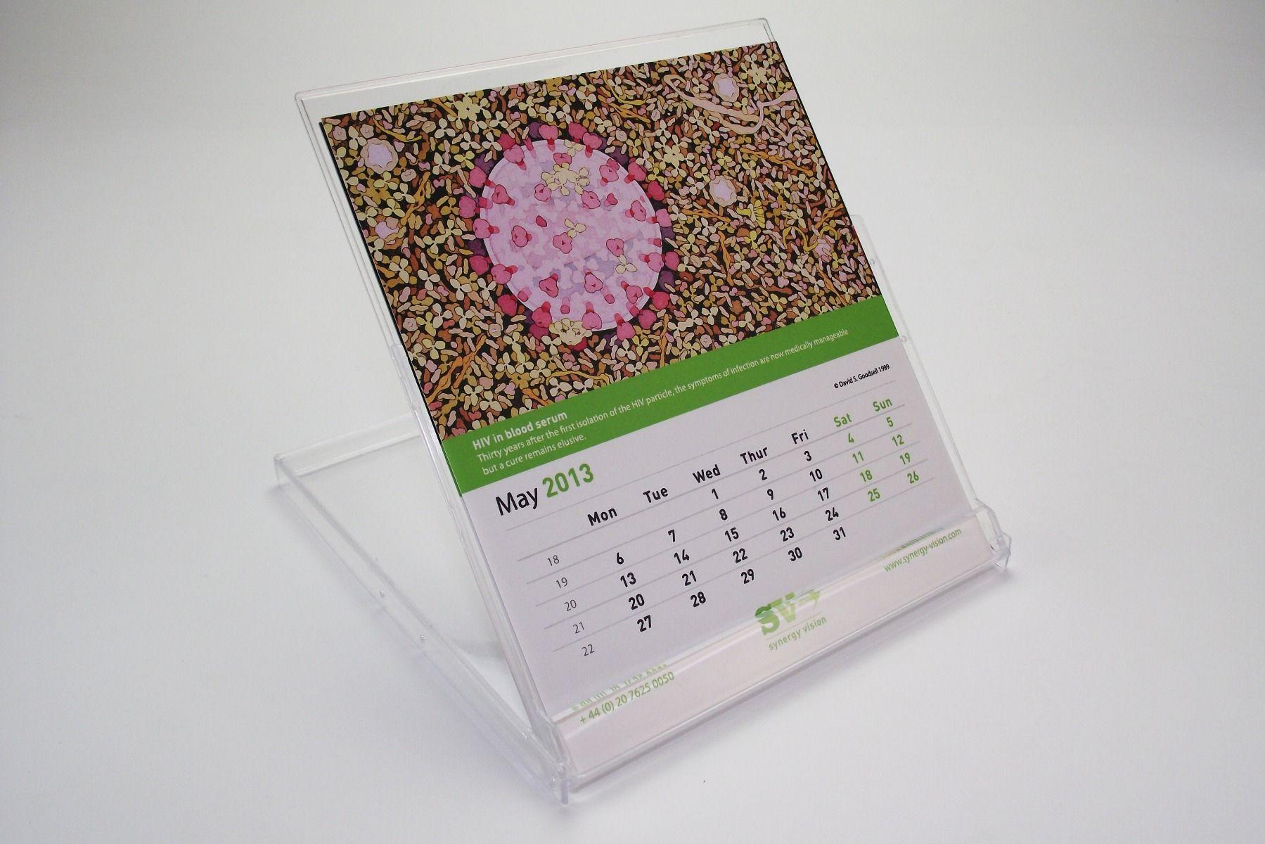 Calendar Jewel Case schwarzen Boden