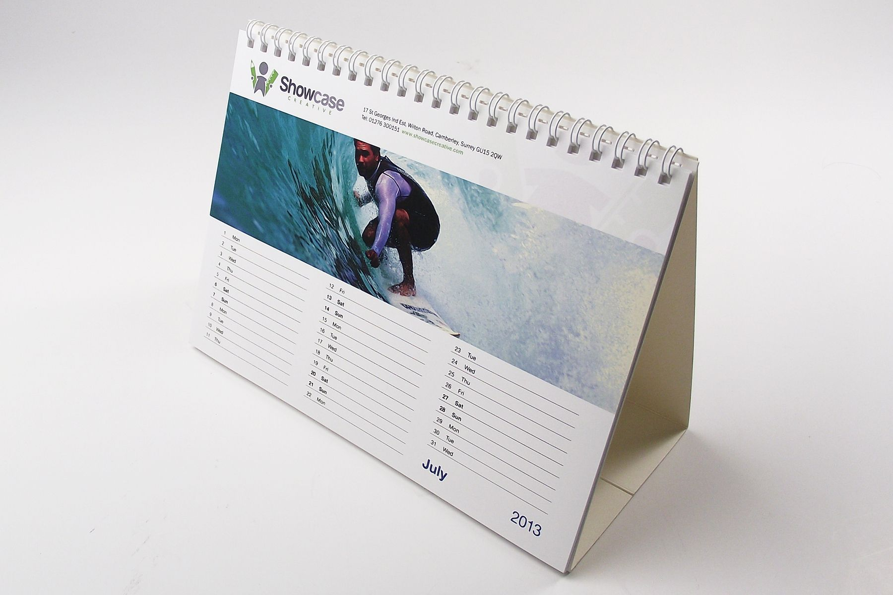 Wire Bound Desk Calendars